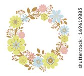 flower frame floral   Shutterstock . vector #169619885