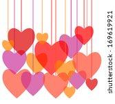 hearts pink love | Shutterstock . vector #169619921
