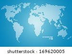 vector world map | Shutterstock .eps vector #169620005