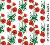 seamless pattern with hand... | Shutterstock .eps vector #1696216261