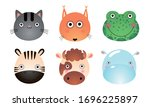 set of different colorful cute... | Shutterstock .eps vector #1696225897