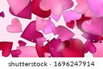 Red  Pink Hearts Vector...