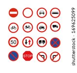 traffic signs prohibiting | Shutterstock .eps vector #169625099