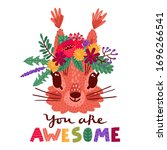 You Are Awesome. Hand Drawn...