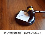 Judges Gavel Or Law Mallet And...