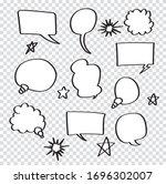 retro set of comics speech and... | Shutterstock .eps vector #1696302007