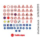traffic signs  | Shutterstock .eps vector #169630595