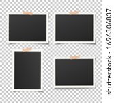set of empty photo frames with... | Shutterstock .eps vector #1696306837