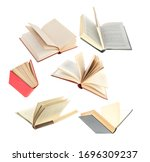 Old Hardcover Books Flying On...