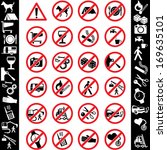 set of prohibition signs | Shutterstock . vector #169635101