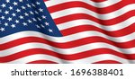 Vector Flag Of Usa. United...