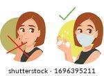 precautions for coronavirus. do ... | Shutterstock .eps vector #1696395211