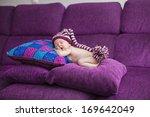 adorable baby sleeping on... | Shutterstock . vector #169642049