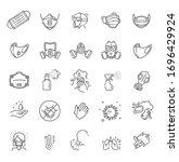virus related icons  thin... | Shutterstock .eps vector #1696429924