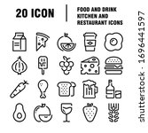 food and drinks icon.... | Shutterstock .eps vector #1696441597