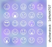 icons set of smiley faces for... | Shutterstock .eps vector #169644707