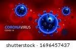 coronavirus covid 2019... | Shutterstock .eps vector #1696457437