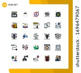 set of 25 modern ui icons...