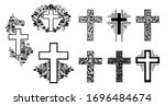 religion cross icon set...   Shutterstock .eps vector #1696484674