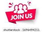 vector illustration join us... | Shutterstock .eps vector #1696494211