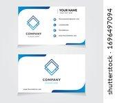 vector business card template.... | Shutterstock .eps vector #1696497094