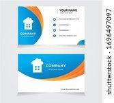 vector business card template.... | Shutterstock .eps vector #1696497097