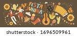 festa junina  vector cute...   Shutterstock .eps vector #1696509961