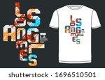 los angeles  california stylish ...   Shutterstock .eps vector #1696510501
