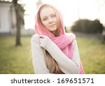 young pretty beautiful woman | Shutterstock . vector #169651571