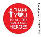 round shape red thank you sign... | Shutterstock .eps vector #1696515754