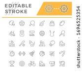 set line icons of sport | Shutterstock .eps vector #1696525354