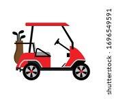Golf Cart Or Golf Car Icon...