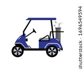 Golf Cart Or Golf Car Icon...
