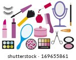 make up collection  cosmetic... | Shutterstock .eps vector #169655861
