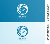 vector design of abstract sea...   Shutterstock .eps vector #1696563694