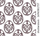 easter seamless pattern with... | Shutterstock .eps vector #1696581757