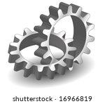 vector gears  isolated object... | Shutterstock .eps vector #16966819