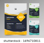 admission open flyer template... | Shutterstock .eps vector #1696710811