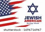 jewish american heritage month. ... | Shutterstock .eps vector #1696716967