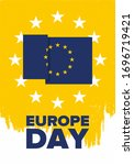 europe day. annual public... | Shutterstock .eps vector #1696719421