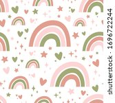 seamless pattern with cute...   Shutterstock .eps vector #1696722244