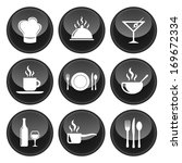food and restaurant icons black ... | Shutterstock . vector #169672334