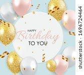 abstract happy birthday... | Shutterstock .eps vector #1696724464