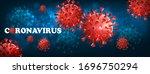 coranavirus background with... | Shutterstock .eps vector #1696750294