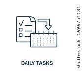 daily tasks icon. line style...