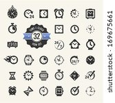 web icon set   time  clock ... | Shutterstock .eps vector #169675661