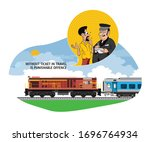 illustration of without ticket... | Shutterstock .eps vector #1696764934
