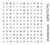 web line icon set. collection...