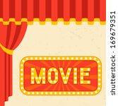 movie and cinema retro... | Shutterstock .eps vector #169679351