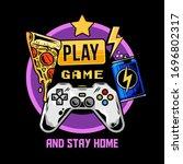 apparel print design for gamer...   Shutterstock .eps vector #1696802317